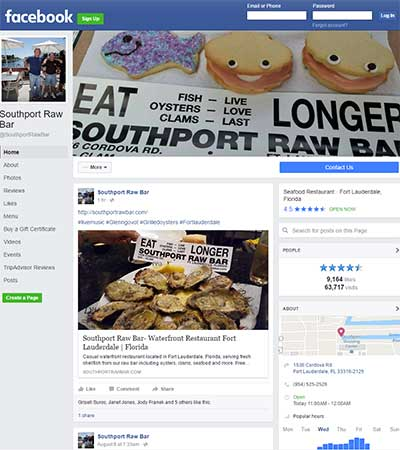 Southport Raw Bar on Facebook